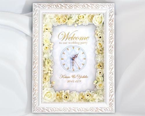 ウェルカムボード(フラワー) マリエE(時計付き) メイン画像