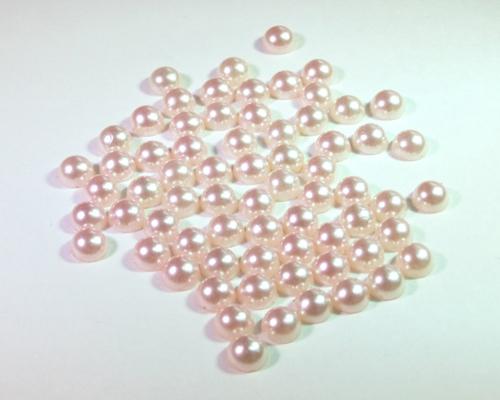 アクセサリーパーツ パール(ライトピンク大)約60個 メイン画像