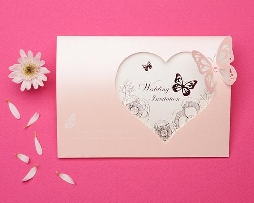 結婚式招待状(手作りキット) パピヨンP(ピンク) メイン画像