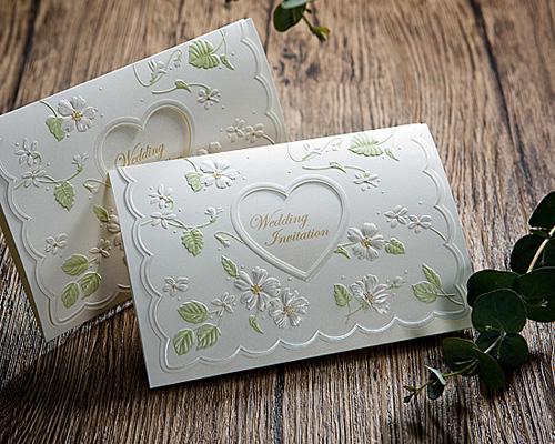 結婚式招待状(手作りキット) ラ・フルールW(ホワイト) メイン画像