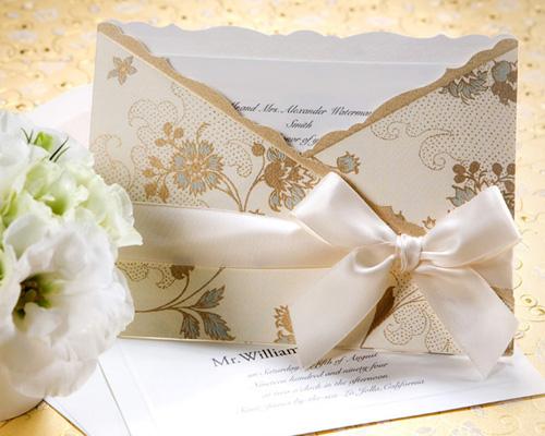 結婚式招待状(手作りキット) ジャパネスクBE(ベージュ) メイン画像