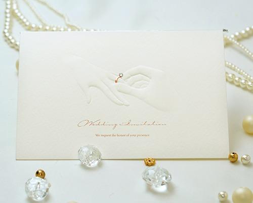 結婚式招待状(手作りキット) リングD(ダイヤ) メイン画像