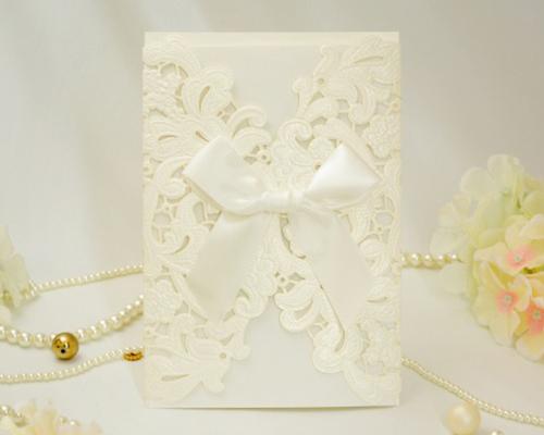 結婚式招待状(手作りキット) レガロW(ホワイト) メイン画像