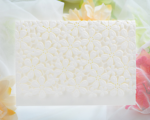 結婚式招待状(手作りキット) フラワーレースA メイン画像