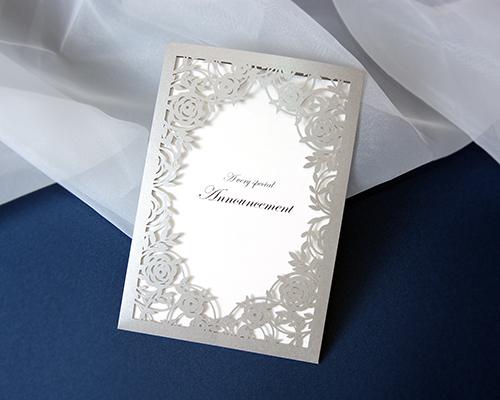 結婚式招待状(手作りキット) ジャルダンSV(シルバー) メイン画像