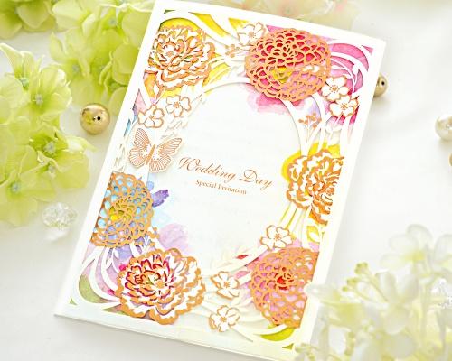 結婚式招待状(手作りキット) フラワリー メイン画像