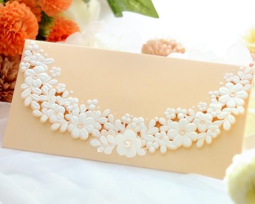 結婚式招待状(手作りキット) セントポーリアBE(ベージュ) メイン画像