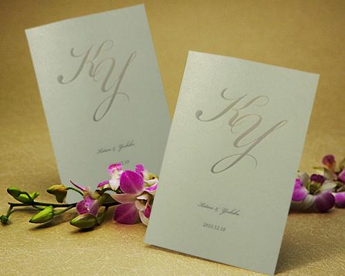 結婚式招待状(手作りキット) レガートAQ(アクア)【Name on Card タイプ】 メイン画像