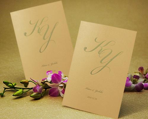 結婚式招待状(手作りキット) レガートCR(クリーム)【Name on Card タイプ】 メイン画像