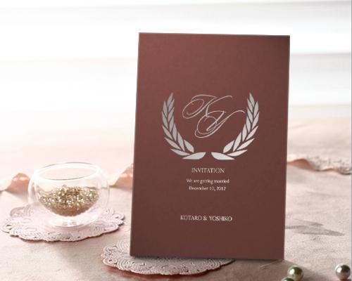結婚式招待状(手作りキット) クレールPL(プラム)【Name on Card タイプ】 メイン画像