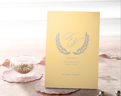 結婚式招待状(手作りキット) クレールCR(クリーム)【Name on Card タイプ】 メイン画像