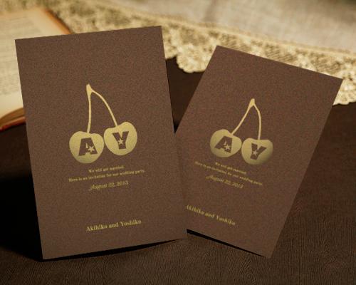 結婚式招待状(手作りキット) メリリー【Name on Card タイプ】 メイン画像