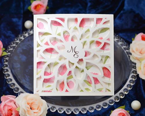 結婚式招待状(手作りキット) チューリップA【Name on Card タイプ】 メイン画像