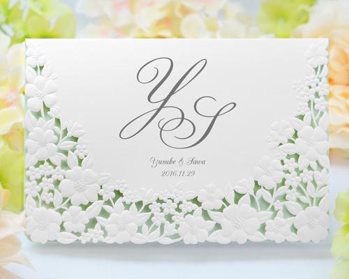 結婚式招待状(手作りキット) パティオGY(グレー)【Name on Card タイプ】 メイン画像