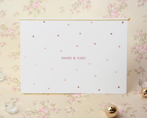 結婚式招待状(手作りキット) ベティA【Name on Card タイプ】 メイン画像