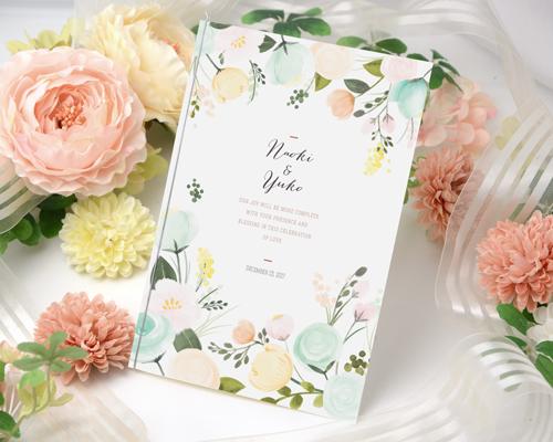 結婚式招待状(手作りキット) シェリールA【Name on Card タイプ】 メイン画像