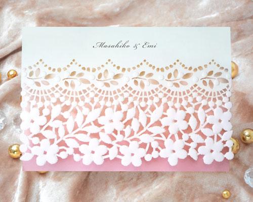 結婚式招待状(手作りキット) フィーユA【Name on Card タイプ】 メイン画像
