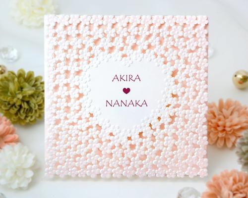 結婚式招待状(手作りキット) ラブリA【Name on Card タイプ】 メイン画像