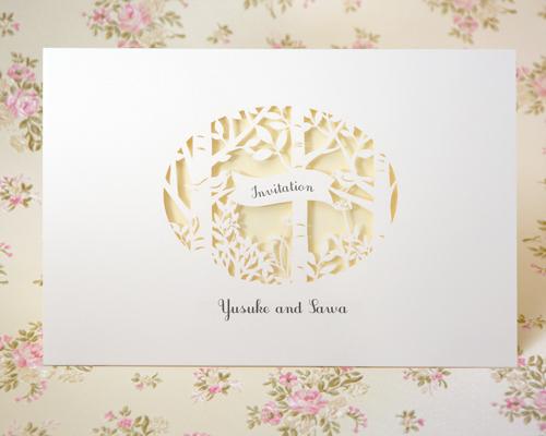 結婚式招待状(手作りキット) フォリアB【Name on Card タイプ】 メイン画像