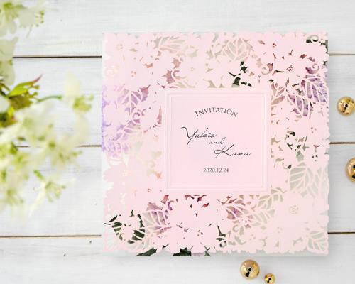 結婚式招待状(手作りキット) ライラック【Name on Card タイプ】 メイン画像