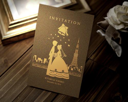 結婚式招待状(手作りキット) ハーモニー(東京ベイエリア)【Name on Card タイプ】 メイン画像