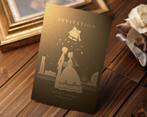 結婚式招待状(手作りキット) ハーモニー(横浜)【Name on Card タイプ】 メイン画像