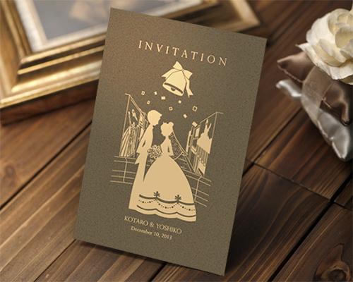結婚式招待状(手作りキット) ハーモニー(大阪道頓堀)【Name on Card タイプ】 メイン画像