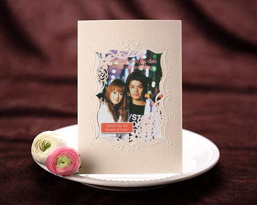 SAVE THE DATE カード メモリーズP(ピンク) メイン画像