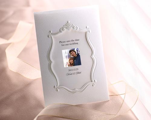SAVE THE DATE カード メモリーズW(ホワイト) メイン画像