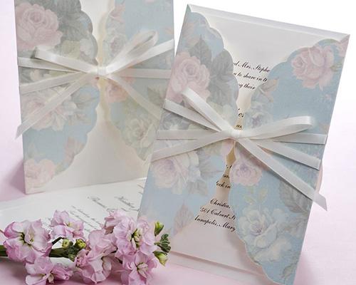 結婚式招待状(印刷込み) ギフトBL(ブルー) メイン画像