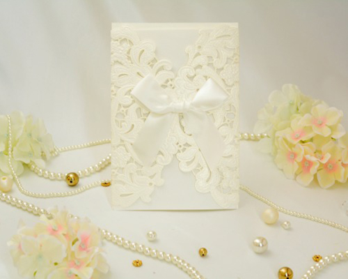 結婚式招待状(印刷込み) レガロW(ホワイト) メイン画像