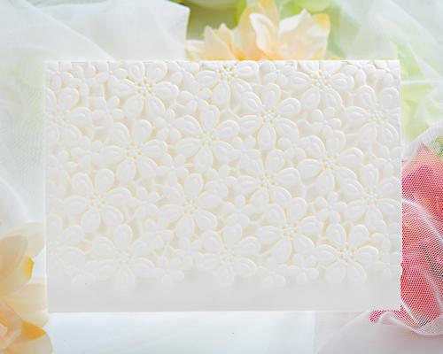 結婚式招待状(印刷込み) フラワーレースA メイン画像