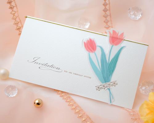結婚式招待状(印刷込み) チューリップB メイン画像