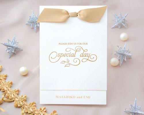 結婚式招待状(印刷込み) ロンドA メイン画像