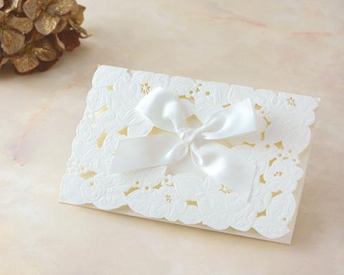 結婚式招待状(印刷込み) ウエディングレース メイン画像