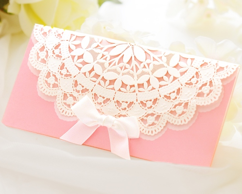 結婚式招待状(印刷込み) セントポーリアP(ピンク) メイン画像