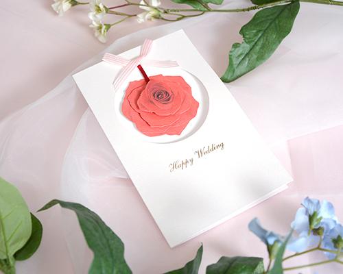結婚式招待状(印刷込み) ローズ メイン画像