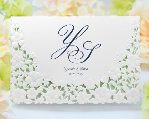 結婚式招待状(印刷込み) パティオBL(ブルー)【Name on Card タイプ】 メイン画像