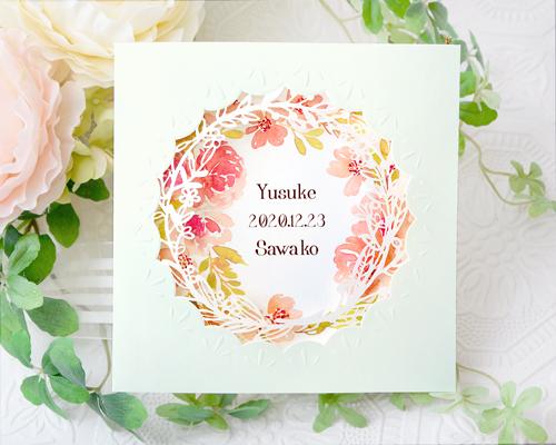 結婚式招待状(印刷込み) ディルA【Name on Card タイプ】 メイン画像