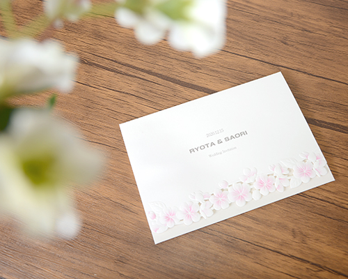 結婚式招待状(印刷込み) YOSHINO【Name on Card タイプ】 メイン画像