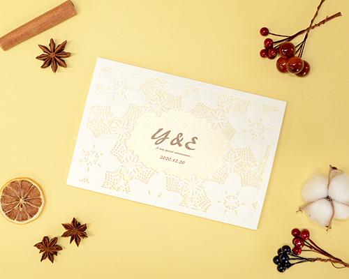 結婚式招待状(印刷込み) ペルーラA【Name on Card タイプ】 メイン画像