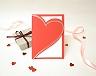 結婚式招待状(印刷込み) ラブハート メイン画像