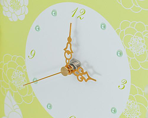 ウェルカムボード(フラワー) マカロンA(時計付き) サポート画像1 (拡大)