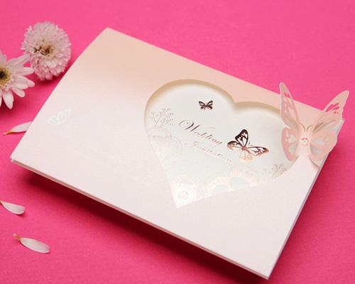結婚式招待状(手作りキット) パピヨンP(ピンク) サポート画像1 (拡大)