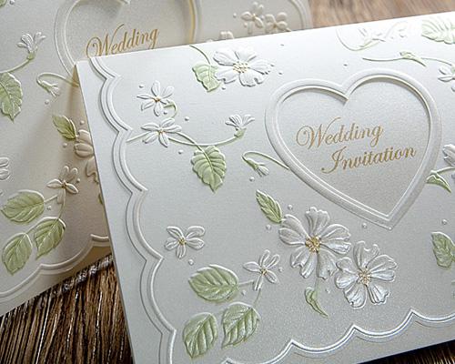 結婚式招待状(手作りキット) ラ・フルールW(ホワイト) サポート画像1 (拡大)