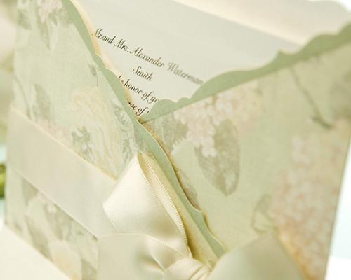 結婚式招待状(手作りキット) ジャパネスクGR(グリーン) サポート画像1 (拡大)