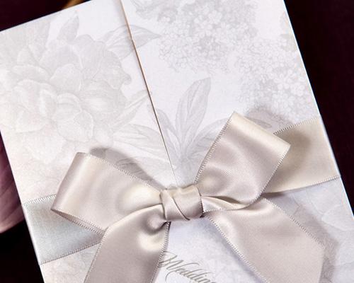 結婚式招待状(手作りキット) ギフトGY(グレー) サポート画像1 (拡大)