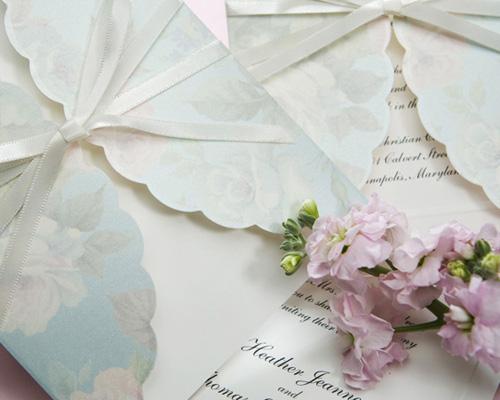 結婚式招待状(手作りキット) ギフトBL(ブルー) サポート画像1 (拡大)