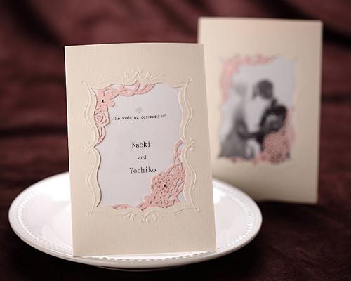 結婚式招待状(手作りキット) メモリーズP(ピンク) サポート画像1 (拡大)