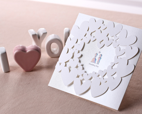 結婚式招待状(手作りキット) ベリーベリーハッピー サポート画像1 (拡大)